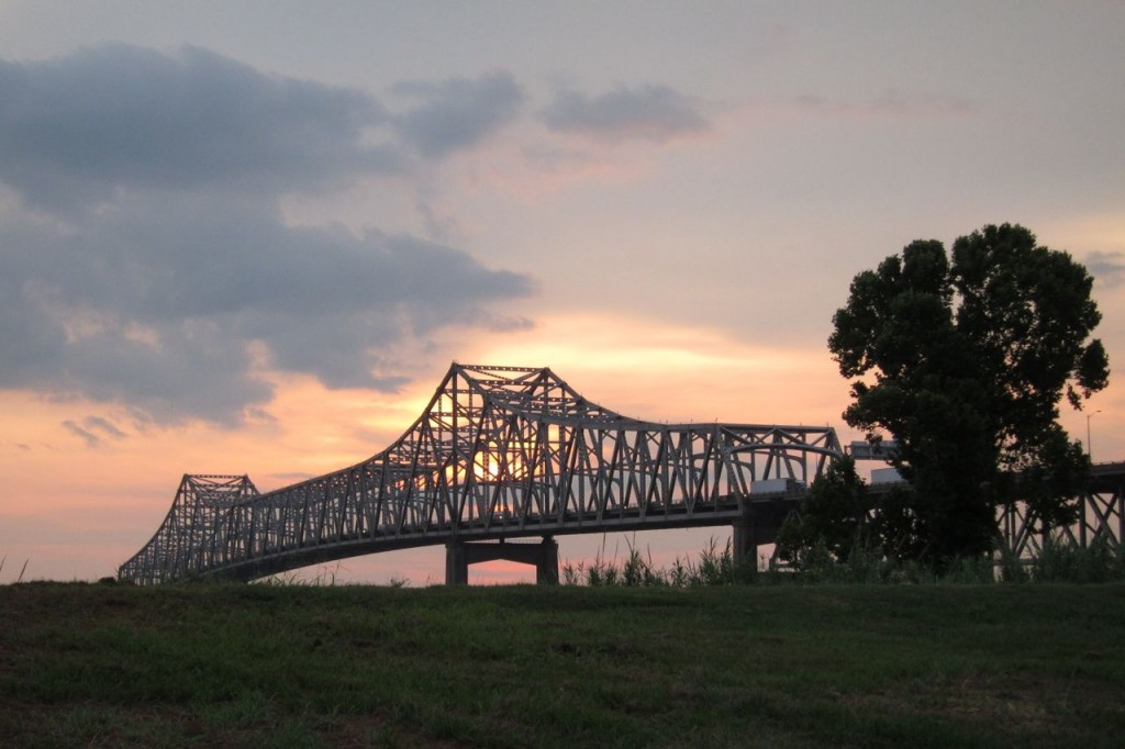 Horace Wilkinson Bridge  I-10 over the Mississippi at Baton Rouge  July 4, 2011