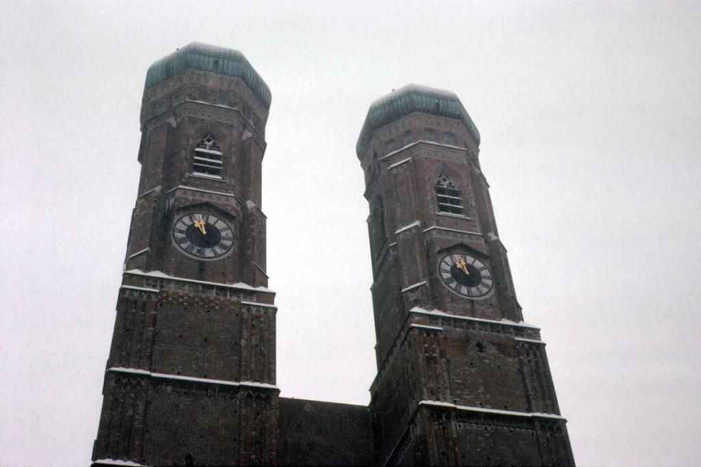 The Frauenkirche in Munich, December 1980
