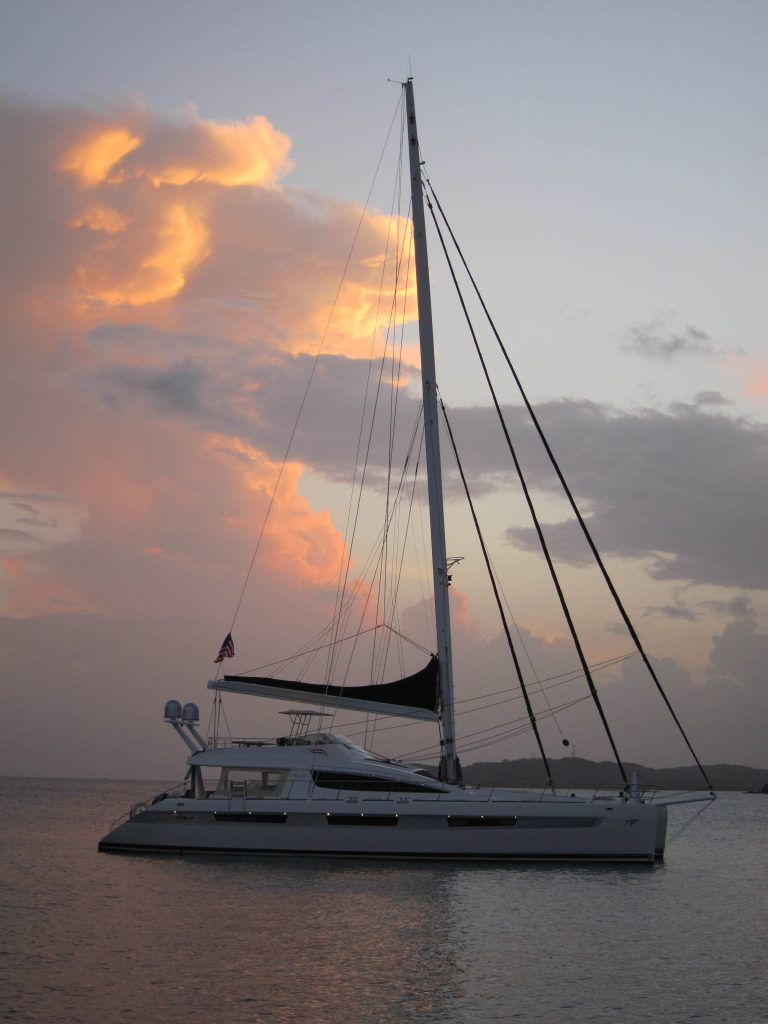 Catamaran at Christmas Cove, US Virgin Islands, May 2015