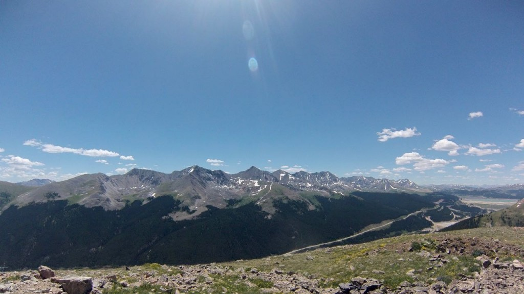View to the southeast from Jacque Peak, Colorado.