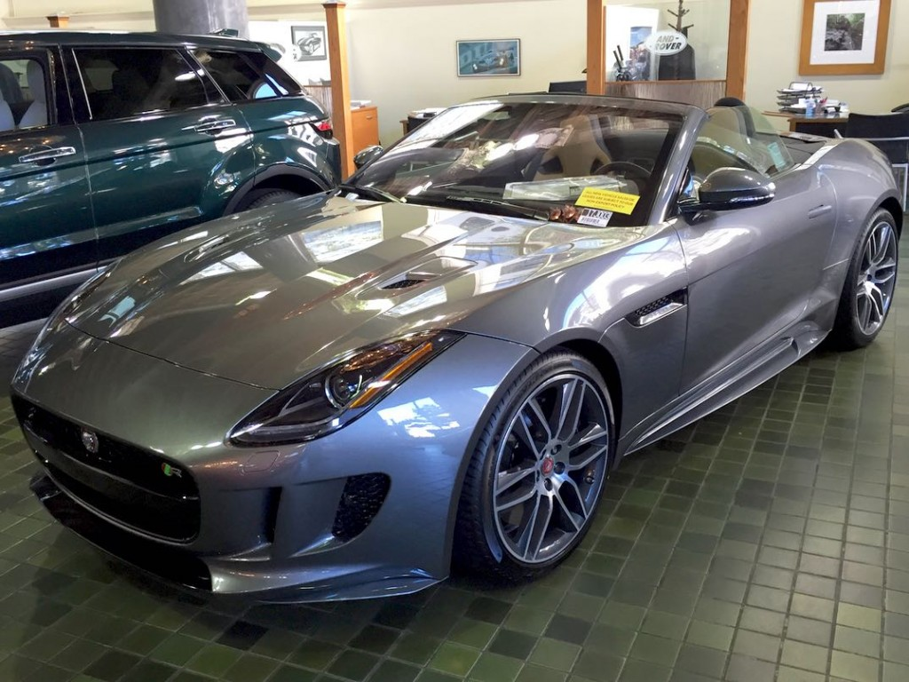 Jaguar F Type at British Motors on Van Ness in San Francisco.