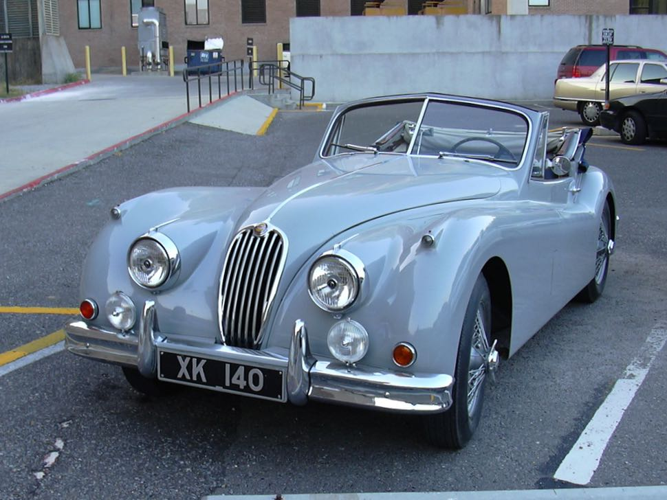 Jaguar XK140 at LSU in August of 2004.