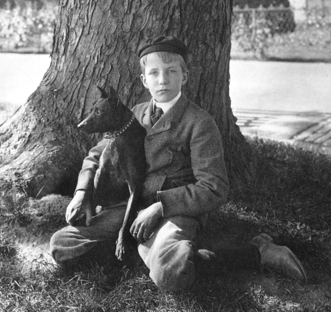 Kermit Roosevelt and his dog Jack in 1902
