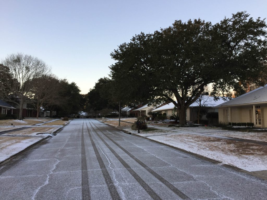 Snow and freezing rain in Baton Rouge January, 2018